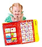 ABC Sound Book For Children / English Letters & Words Learning Book, Fun Educational Toy by Boxiki Kids / Learning Activities for Letters, Words, Numbers, Shapes, Colors and Animals for Toddlers