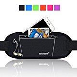 AIKELIDA Running Belt / Fanny Pack / Fitness Belt / Waist Pack for iPhone, Samsung Edge / Note / Galaxy - Men, Women during Sports Fitness, Running, Cycling, Hiking, Travel, Workout - Black