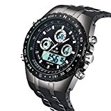 ALPS Mens Sports Watch 98FT Water Resistant Fashion Outdoor Analog Digital Display Electronic Military Back Light Multifunction Watch