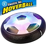 AMENON Kids Air Soccer Boys Girls Sport Toys Training Football Indoor Outdoor Disk Hover Ball with Foam Bumpers and Light Up LED Lights