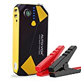 AUTO-VOX Portable Car Jump starter P2 14000mAh 500A Peak (Up to 5L Gas and 2L Diesel Engine) Emergency Kit Battery Booster Power Pack with Compass LED Lights & Multiple Slots