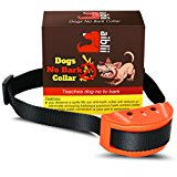 No Bark Collar for Dog by Aiblii- Anti Shock Stop Barking Control Training Collars - 7 sensitivity Levels for Small and Large Dogs Black