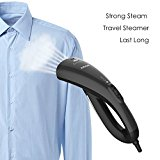 Aicok Handheld Fabric Steamer Travel Garment Steamer Portable Clothes Steamer, Fast Heat Up, with Travel Pouch and Glove