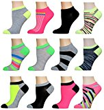AirStep Women's No Show Athletic Socks - 12 Pack,16115-Multi,Sock Size: 9-11 Fits Shoe: 4-10