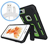 AmazeFan iPhone 7 Case,FREE[Lightning Cable],Kickstand [Military Grade Drop Tested] with Extreme Heavy Duty Protection and Air Cushion Technology 2017