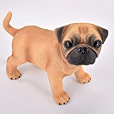 Amazlab Puppy Dog Baby Pug LED Table Lamp can be used as Night Light / Bedside Light Warm White Glow,USB and Battery Powered Lantern,4 Hours Timer