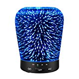 Aromatherapy Oil Diffuser, SZTROKIA 180ml Essential Oil Ultrasonic Cool Mist Humidifier with 3D 14 Color Changing Starburst LED lights