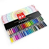 Arteza Fineliner Pens - 48-Colors - 0.4mm Line - Metal-Clad Encased Tips - (Set of 48)