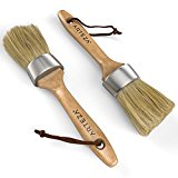 Arteza Round Chalk Paint and Wax Brush 2 Pack, Made for Furniture, Natural Bristles, Professional-Grade Quality