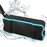 Ayoki Portable Bluetooth Speaker,Water Resistant,HD Bass Sound,Stereo Pairing,4500mAh Rechargeable Battery 12 Hours Playtime for iPhone/iPod/iPad/Phones/Tablet (Black/Blue)