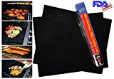 BBQ Grill Mat As Seen On TV, Non-Stick Oven Cook Mats, Set of 2 Sheets, Made With Teflon