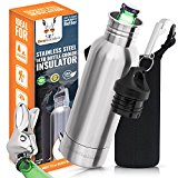 Beer Bottle Koozie Cooler Keeper Insulator Stainless Steel -Fun Gift For Men and Women- Keeps Beer Ice Cold -Fits 12oz Bottle + Insulated Bag + Keyring Bottle Opener + Wall Mount Opener-in Luxury Box!
