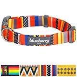 Blueberry Pet Nautical Flags Inspired Designer Basic Dog Collar, Neck 14.5