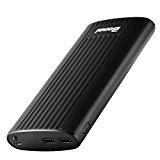 Bonai Power Bank Stripe 20,000mAh Portable Charger for iPhone Samsung Dual Ports & Flashlight-Black