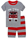 Boy Pajamas Truck 2 Piece Children Short Set Cotton Toddler Pjs Clothes Set Size 8