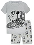Boys Pajamas Short Pajamas 100% Cotton Train Toddler Kids Pjs Sleepwear Set Size18M