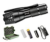 CVLIFE A100 CREE XML T6 LED Flashlight Torch Light with Rechargeable 18650 Battery and Charger