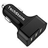 Car Charger,TechStone 3 Ports USB Smart Car Charger 36W / 7.2A Fast Charge for iPhone 7 6S Plus 6 Plus 6 5SE 5S 5 5C 4S, Samsung Galaxy S7 S6 Edge, Note 5 4 S5 Tab S,LG G5 G4,HTC,iPads Pro Portable