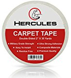 Carpet Tape Double Sided | 35 Yards X 2 Inch | Military Grade Strength | Longer, Stronger, More Durable | Premium Brand | Composite Materials | 2017 Technology | White Color by Hercules