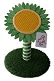 Cat Scratching Post, Flower, Sunflower Solid Wood Modern Cat Furniture with Grass & Sisal Rope