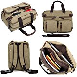 Clean Vintage Hybrid Backpack Messenger Bag | Convertible 14