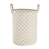Collapsible Large Waterproof Fabric Laundry Hampers for Kids'Room,Toy Storage Basket, Waste Baskets 19.5