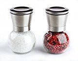 Cucina Chef Stainless Steel and Glass Salt and Pepper Grinder Set
