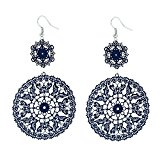 D EXCEED Women's Statement Cutout Butterfies Lace Filigree Dangle Earrings