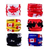 DSRG 6PCS Multifunctional Seamless Headbands Scarf Wrap for Men/Women Headwear for Sports, Headscarves, Bandana Headwrap Scarf Neck Gaiter Turban Face Mask (CANADA)