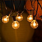 DeepLite 25ft Ambiance String Lights with G40 Globe Bulbs, Extendable Indoor & Outdoor Light Decoration for Garden, Patio, Umbrella, Party, Wedding, Halloween, Christmas