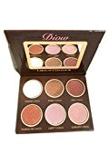 DIOW Face Contour Highlighter Shadow Repair Capacity Contour Makeup Powder (Brown, 6 Colors / Pieces)