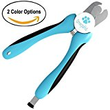 Dog Nail Clippers (Professional Edition) - Quick Safety Guard to Avoid Overcutting & Nail File Trimmer to Smooth Out Nails - Large Breed Toenail Clipper