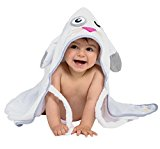 Doroney Ultra Soft Baby Hooded Towel - 100% Cotton, Hypoallergenic, Girls Boys, Baby Shower Gift, White
