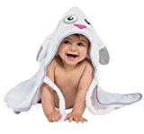Doroney Ultra Soft Baby Hooded Towel - 100% Cotton, Hypoallergenic, Girls Boys, Baby Shower Gift, White