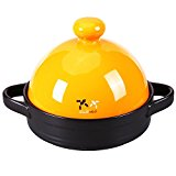 Doublewhale Ceramic Soup Pots Saucepans Tagines Fire on 600 Degrees Gas Stove Top Colorful Hot Pots