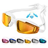 Duckmole Professional Unisex Swimming Goggles For Adult, Anti-fog, Anti-UV, Anti-impacting, Dust-proof and Waterproof White