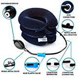 EasyNeck Cervical Neck Traction Device - Inflatable Cervical Traction Pillow - Instant Relief for Chronic Neck Pain - Provides Shoulder Support & Posture Improvement Adjustable Spine Alignment Collar