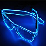 El Wire Glow Sun Glasses Multicolor Led Frame Flashing Glasses (Blue)