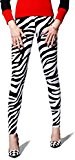 Elastic Wonder Zebra Animal Print Premier Women's Spandex Leggings Made In USA
