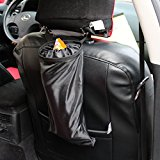Encell Black Auto Seat Back Litter Bag Car Organizer