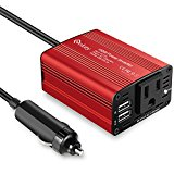 Enkey 150W Car Power Inverter DC 12V to 110V AC Converter with 3.1A Dual USB Charger