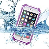 Evershop Waterproof Case for Iphone6/6s Extreme Durable Protection and Ip68 Certified Waterproof / Dustproof / Snowproof /Shockproof Protective Case for Iphone 6/6s 4.7 Inch (Purple)