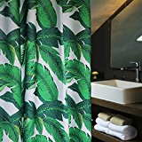 Extra Long Green Fabric Shower Curtain for Bathroom Curtain,72Wx78H,Forest