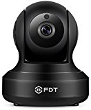FDT 1080P HD WiFi Pan/Tilt IP Camera (2.0 Megapixel) Indoor Wireless Security Camera FD8901 (Black), Plug & Play, Two-Way Audio & Nightvision