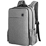 Ferlin Multi-function Baby Diaper Nappy Bags Backpack with Changing Pad, Fashion Design with Anti-Water Material for Both Mom & Dad (Grey-007)