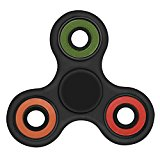 Fidget Solutions, Fidget Spinner Toy Stress Reducer With User Guide (Black)