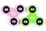 Fidget Spinner Toy Time Killer Perfect to relieve ADHD Anxiety Reduce Stress Helps Focus. Hand Spinner Anti-Stress Toys for Children, Teens, Students and Adults-2pack (Pink Green)