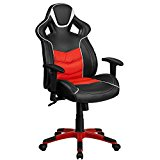 Flash Furniture High Back Rosso Corsa Red Executive Gaming-Racing Swivel Chair with Comfort Coil Seat Springs & Red Base
