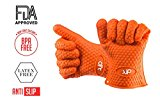 Flexible Silicone BBQ Gloves - Silicone Oven Mitts Gloves - Heat Resistant,Grilling,Cooking,Smoking,Baking Barbecue - Potholder Heat Resistant Gloves - 10.6