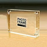 Free Standing Acrylic Photo Frames Block with Magnetic By Yakri(2.17